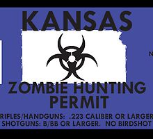 Zombie Hunting Permit - KANSAS by SMALLBRUSHES