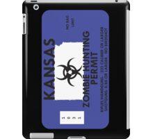 Zombie Hunting Permit - KANSAS iPad Case/Skin