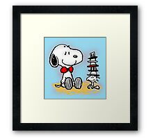 Snoopy New Friend Framed Print