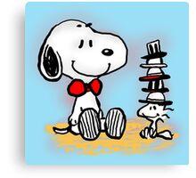Snoopy New Friend Canvas Print