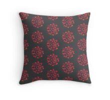 Pom-Pom Fire Flower on Charcoal Grey Throw Pillow