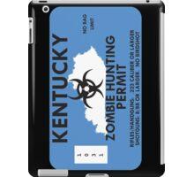 Zombie Hunting Permit - KENTUCKY iPad Case/Skin