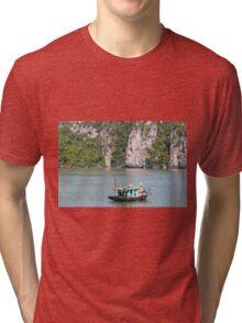 Fishing Boat Halong Bay Vietnam Tri-blend T-Shirt