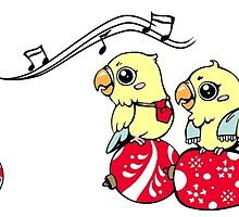 Cute singing lovebird by lifewithbirds