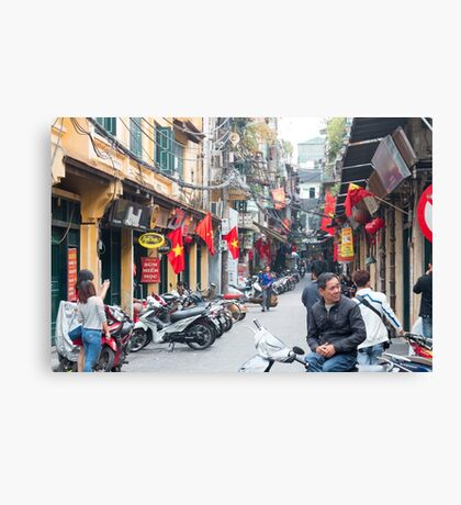 Hanoi Old Quarter Vietnam Canvas Print