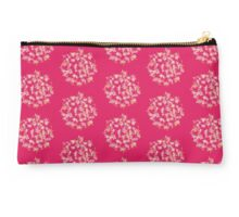 Pom-Pom Snow and Fire Flower on Deep Pink Studio Pouch