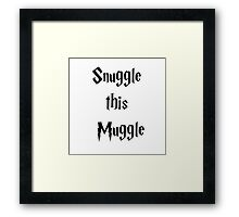 Snuggle this Muggle - Harry Potter Framed Print