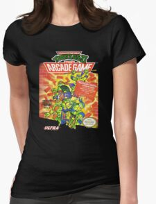 TMNT II: The Arcade Game Womens Fitted T-Shirt