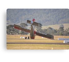 Hunter Valley Airshow, Australia 2015 - Undercarriage Collapse Canvas Print