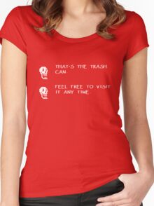 That's the trash can - Feel free to visit it any time Women's Fitted Scoop T-Shirt