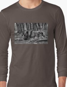 BULL FIGHT  IN THE OUTBACK Long Sleeve T-Shirt