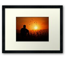 A Thoughtful Man Framed Print