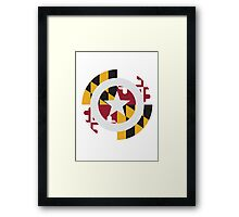 Captain Maryland Framed Print