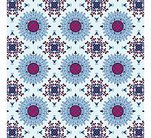 Blue and red mandala Photographic Print