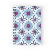 Blue and red mandala Spiral Notebook