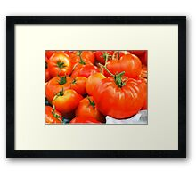 Big Red Tomatoes Framed Print