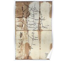 Civil War Maps 1669 Sketch of vicinity of head qtrs US forces Snows Pond Kentuckey sic Poster