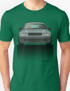 Modern Euro Icons Car Series Audi Rs4 A4 Avant Quattro B5 Split Unisex T-Shirt