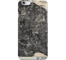 Civil War Maps 1821 The Wilderness May 5-7 1864 iPhone Case/Skin