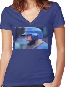 Russel Martin Women's Fitted V-Neck T-Shirt
