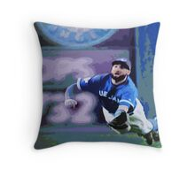 Kevin Pillar Takes a Dive Throw Pillow