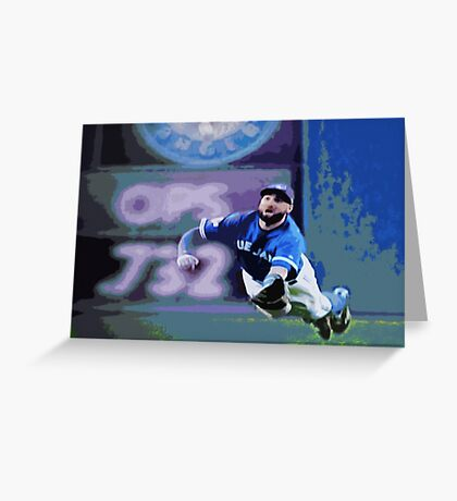 Kevin Pillar Takes a Dive Greeting Card