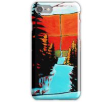 """""""Mountain Snow Trail"""" acrylic painting iPhone Case/Skin"""