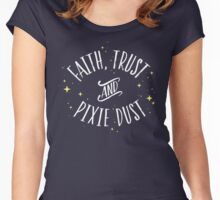 Faith Trust and Pixie Dust // Peter Pan Tshirt Women's Fitted Scoop T-Shirt