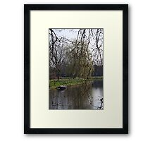 Spring by the canal Framed Print