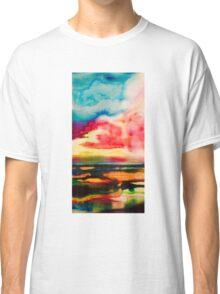 sunset over sea Classic T-Shirt