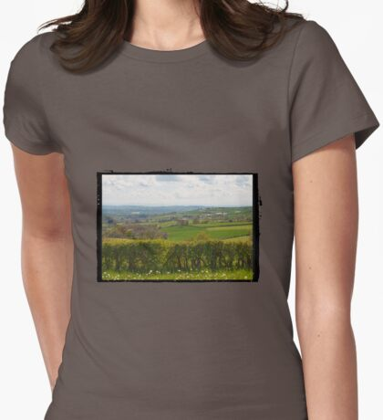 Beautiful French countryside Womens Fitted T-Shirt