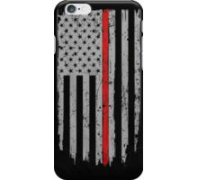 Thin Red Line Flag iPhone Case/Skin