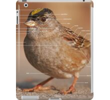 Parts of a Bird - Golden-crowned Sparrow iPad Case/Skin