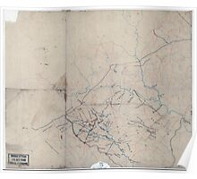 Civil War Maps 2052 Map of portions of Orange Louisa Spotsylvania and Culpeper counties Virginia Poster