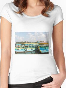 River Boats Hoi An Vietnam Women's Fitted Scoop T-Shirt