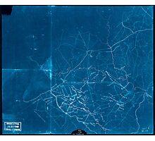 Civil War Maps 2052 Map of portions of Orange Louisa Spotsylvania and Culpeper counties Virginia Inverted Photographic Print