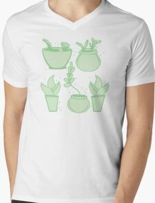 a collection of cacti Mens V-Neck T-Shirt