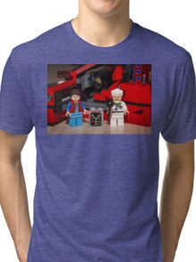 Flux Capacitor goes where? Tri-blend T-Shirt