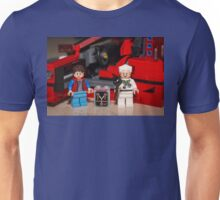 Flux Capacitor goes where? Unisex T-Shirt