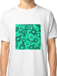 Crop Circles (Black and Green) Classic T-Shirt