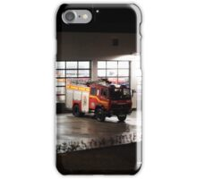 Tolvaddon Fire Station at night iPhone Case/Skin
