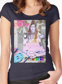 Vaporwave Seapunk - God bless the internet Women's Fitted Scoop T-Shirt