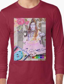 Vaporwave Seapunk - God bless the internet Long Sleeve T-Shirt
