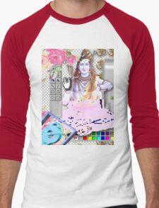 Vaporwave Seapunk - God bless the internet Men's Baseball ¾ T-Shirt