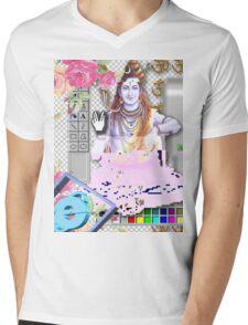 Vaporwave Seapunk - God bless the internet Mens V-Neck T-Shirt