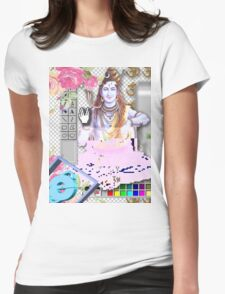 Vaporwave Seapunk - God bless the internet Womens Fitted T-Shirt