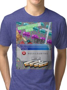 Vaporwave Seapunk much cool Tri-blend T-Shirt
