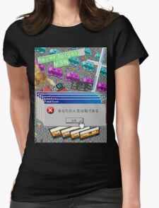Vaporwave Seapunk much cool Womens Fitted T-Shirt