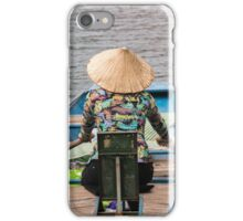 Vietnamese Lady Boat on Ngo Dong River Tam Coc iPhone Case/Skin