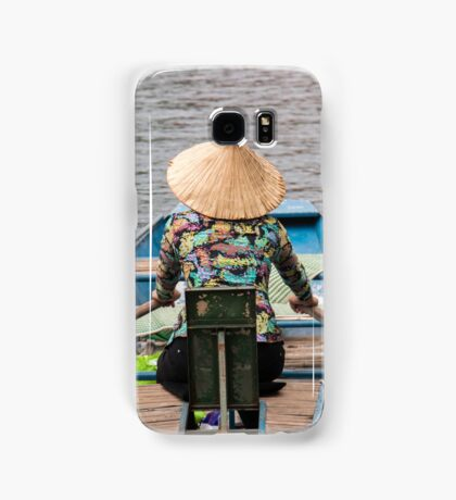 Vietnamese Lady Boat on Ngo Dong River Tam Coc Samsung Galaxy Case/Skin